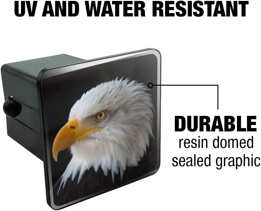 Graphics and More Stoic Bald Eagle Tow Trailer Hitch Cover Plug Insert 1 1//4 inch 1.25