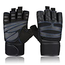 Hicool Breathable Cycling Gloves,Abrasion-Proof Crossfit Half Finger Gloves For Weight Lifting, Cross Training, Gym Workout, Exercise Bike and More Outdoor Sports
