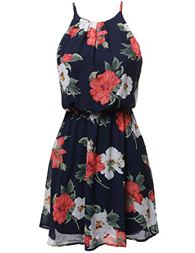 floral-print-double-layered-romper-mini-dress-navy-size-l