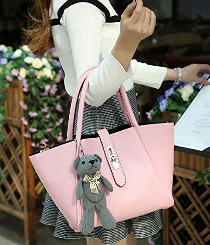 Size Shoulder Pink One Womens Bag Plastic Dissa vxYwfUw