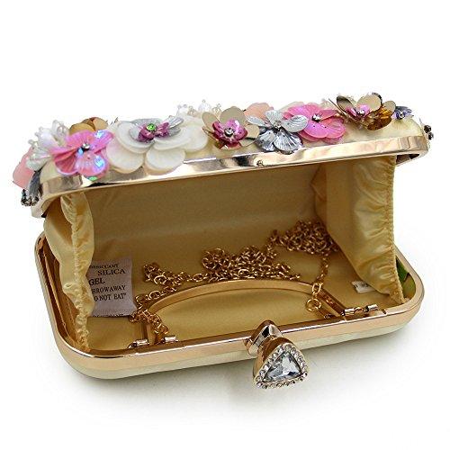 à à Main des de Lovely Sacs Décorer Fleur Main Perlée Femmes Soirée d'embrayage d'embrayage Mariage rabbit de Sac Perlées Dîner Sacs fqqwOa7S