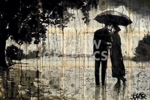 "RAINY DAY RENDEZVOUS ART PRINT POSTER 11/"" x 14/"" JOVER LOUI 570"
