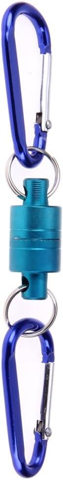 demiawaking aluminio pesca hebilla imán cierre para colgar accesorios de pesca señuelo herramienta