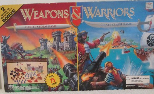 RARE TWO GAME SET [ WEAPONS & WARRIORS PIRATE CLASH GAME & CASTLE STORM GAME ] WITH UPGRADES/ EXTRA GAME PIECES (Weapons And Warriors Board Game compare prices)