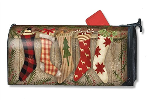 MailWraps Christmas Stockings MailWrap Mailbox Cover 00129 -