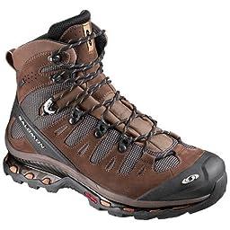 Salomon Men\'s Quest 4D GTX Backpacking Boot,Absolute Brown-X/Burro/Wood Beige,10.5 M US