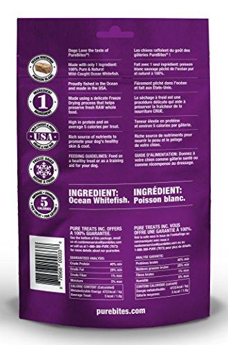 PureBites  Freeze-Dried Dog Treats with Ocean Whitefish 1.8 oz