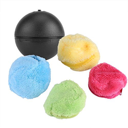 Automatic Cute Rolling Vacuum Floor Sweeping Robot Cleaner Microfiber Ball Cleaning With 4Pcs Colorful Covers Set for Home Room by Yosooo
