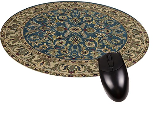 Blue Oriental Rug-Mat-Round Mouse pad - Stylish, Durable Office Accessory Made in the USA