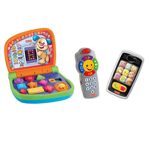 Fisher Price Laugh & Learn Smart Phone, Laptop and Remote Set