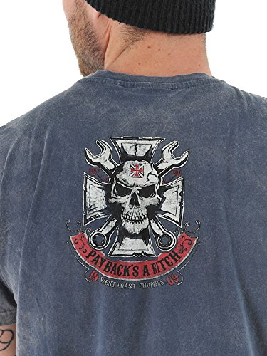 WCC West Coast Choppers T-Shirt Mechanic Blue-S