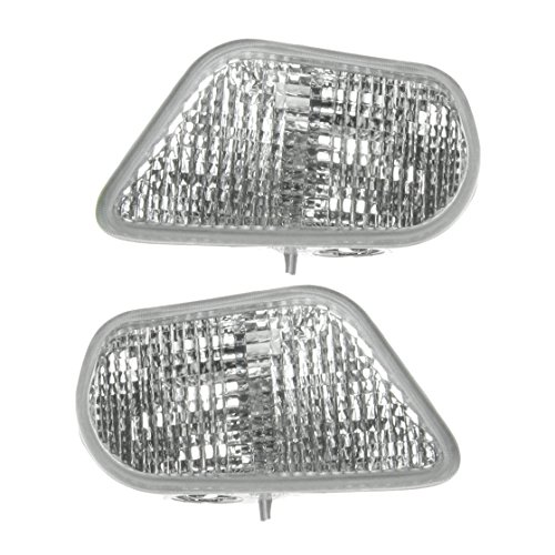 Side Marker Corner Parking Lights Turn Signals Pair Set for 98-02 Trans Am ()