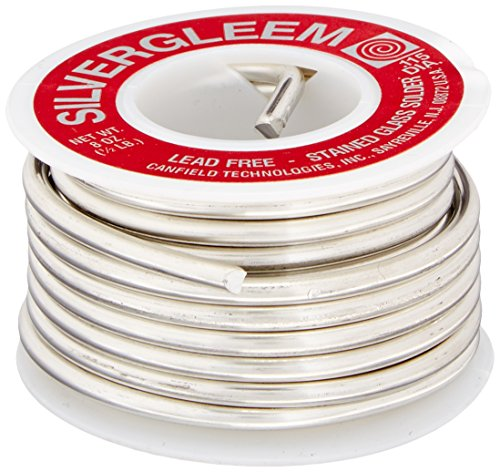 Lead Free Silvergleem Solder Wire - 1/2 Lb Spool (Lead Solder Free Silver)