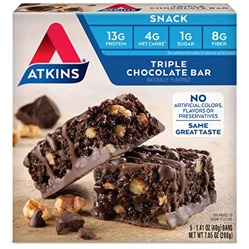 Atkins Snack Bar, Triple Chocolate, 5 Count