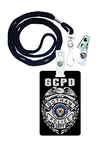 (Gotham City Police Batman Novelty ID Badge Film Prop for Costume and Cosplay • Halloween and Party)