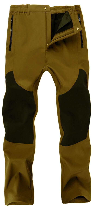 Singbring Men's Outdoor Windproof Hiking Pants Waterproof Ski Pants Small Tan(01F) by Singbring
