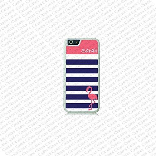 Krezy Case Cute Flamingo Monogram iPhone 6 Case,Monogram iPhone 6 Cover, Custom iPhone 6 Cases, Cute monogram...