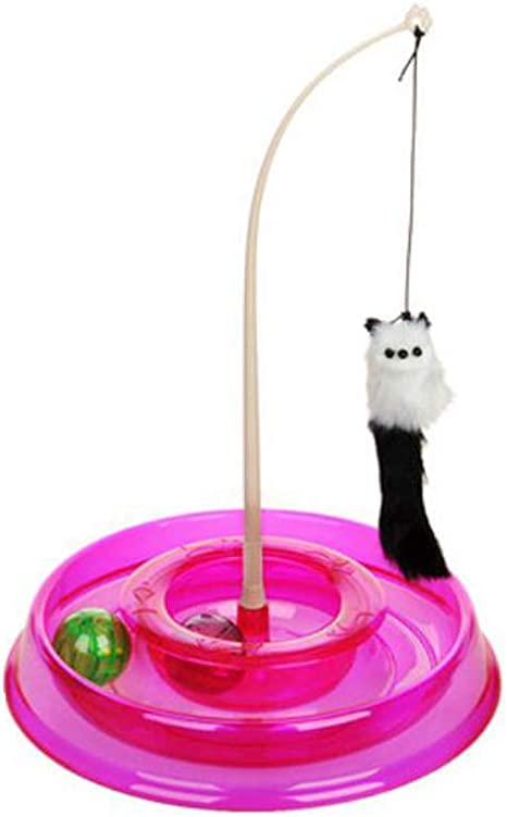 Juguetes For Mascotas, Palitos Divertidos For Gatos, Mascotas De Ratoncitos De Felpa, Suministros For Gatos Jóvenes Bola De Gatito Campanas De Juguete Bola De Gato Bola Giratoria (Color : Pink) :