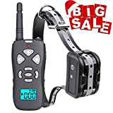 Casacop Dog Training Collar, Waterproof Dog Shock Collar with 1800ft Remote, Rechargeable Electronic Collar with Vibration Tone Shock Modes, Adjustable Collar Strap for Small Medium Large Dog