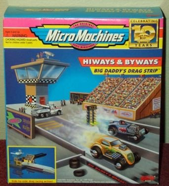 - Big Daddy's Drag Strip Micro Machines Hiways & Byways Playset