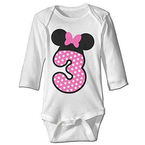 [Raymond Minnie Mouse Designed Long Sleeve Baby Climbing Clothes White 12 Months] (Dwayne Johnson Baby Costume)