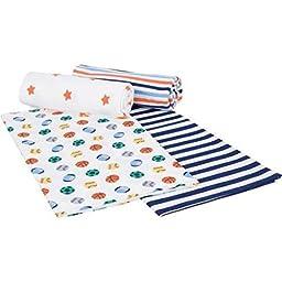 Gerber Flannel Receiving Blanket - Boy - Set of 4