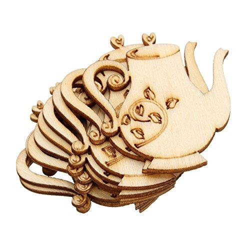 10pcs/lot Beautiful Design Teapot Die Cutting Wood Angle DIY Scrapbook 35mm39mm DIY scrapbook Wood Crafts Accessories