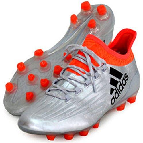 に付ける応用縫い目アディダス(adidas) サッカースパイク 28.5cm X エックス 16.1-ジャパン HG 国内正規品 BB4141 シルバーメット×コアブラック×ソーラーレッド