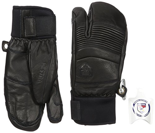 Hestra Unisex Leather Fall Line 3-Finger Glove Black Size 10