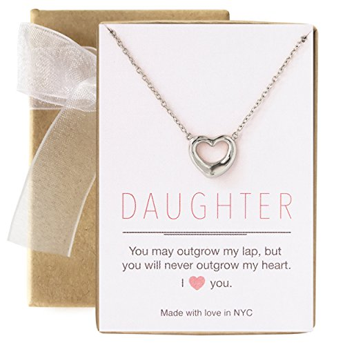A+O Gift for Daughter - Heart Necklace in Sterling Silver