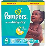 Pampers Baby-Dry Diapers, Size 4, 7-14 kg,value pack, 132 Count