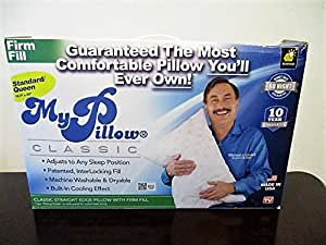 My Pillow Classic Series Bed Pillow, Standard/Queen Size, Medium (Single Pillow)