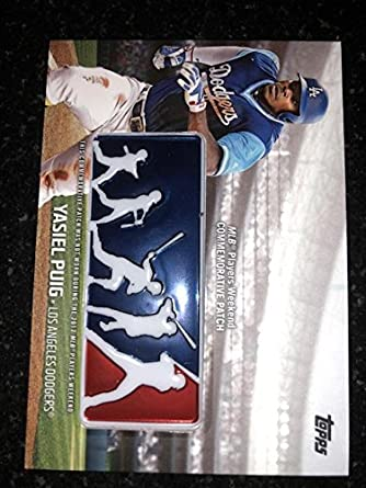 12074bf45 2018 Topps MLB Players Weekend Commemorative Patches #PWP-YP Yasiel Puig  Los Angeles Dodgers