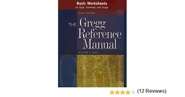 Basic Worksheets on Style, Grammar, and Usage to accompany the ...