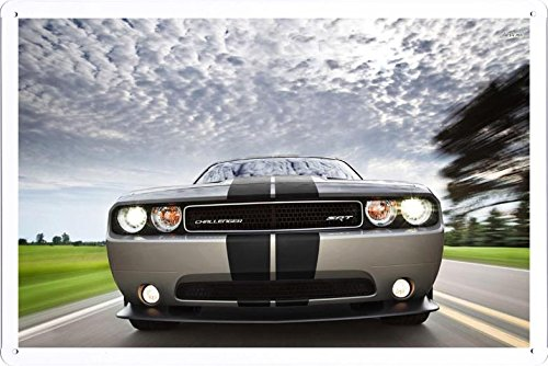 Vehicle Automobile Motor Car 28212 2012 Dodge Challenger Srt8 Tin Sign Metal Poster Plate (20x30cm) By Auto TinSign