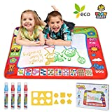 Magic Water Drawing Mat Large Doodle Mat 31.4 x 23.6in Painting Board Writing Mats 4 Pens 8 Molds...