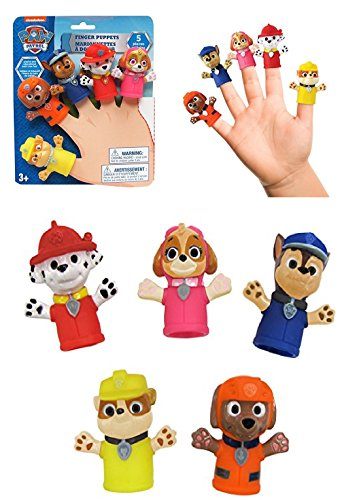 Nickelodeon Paw Patrol - FINGER PUPPETS - Bath Time is Fun With These Playful Finger Puppet Characters! Character Finger Puppets