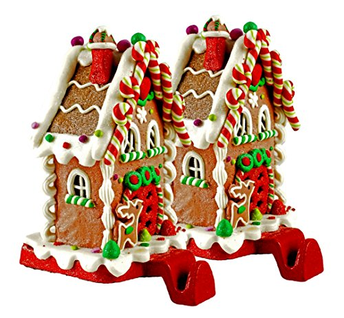gingerbread house christmas stocking holder set of 2. Black Bedroom Furniture Sets. Home Design Ideas