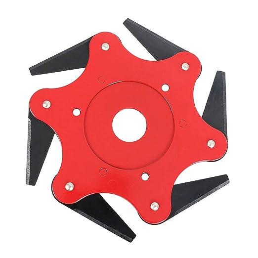 Amazon.com: LEIDE - Cabezal cortador de césped, 6 cuchillas ...