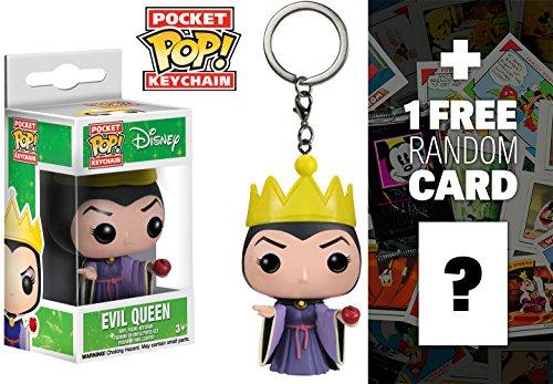 Evil Queen: Pocket POP! Keychain x Disney Snow White Vinyl Figure + 1 FREE Classic Disney Trading Card Bundle (Queen From Snow White)