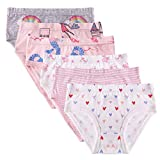 Little Girls Boyshort Underwear Cotton Briefs Panties Set 3-4 Years