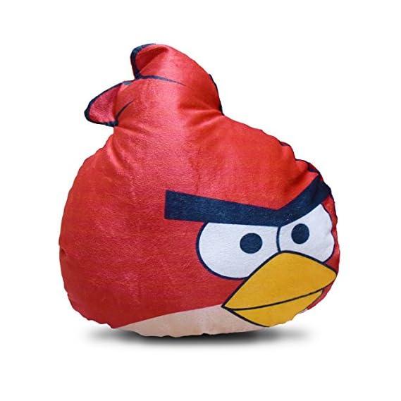 Velvet Angry Birds Cushion by Kesar Enterprises   Velvet Fabric   Soft Toys   Suitable Soft Toy for Kids for Kids