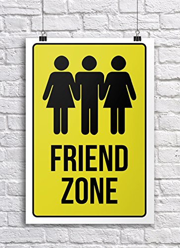 - JSC373 Friend Zone Classroom Poster | 18-Inches By 12-Inches | Premium 100lb Gloss Poster Paper