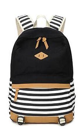 YANFEI Mochilas escolares ligeras mochila casual para las niñas Estilo de la escuela Capa grande bolsas de lona Mochilas hombro , black: Amazon.es: Equipaje