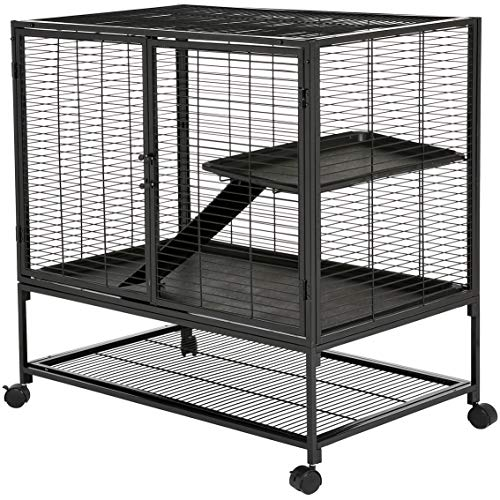 Amazon Basics Small Animal Metal Pet Cage with Wheels