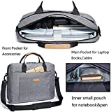 Laptop-Bag-KALIDI-156-Inch-Laptop-Briefcase-Messenger-Bag-for-Dell-Alienware-Macbook-Lenovo-HP-Travelling-Business-College-and-OfficeGray