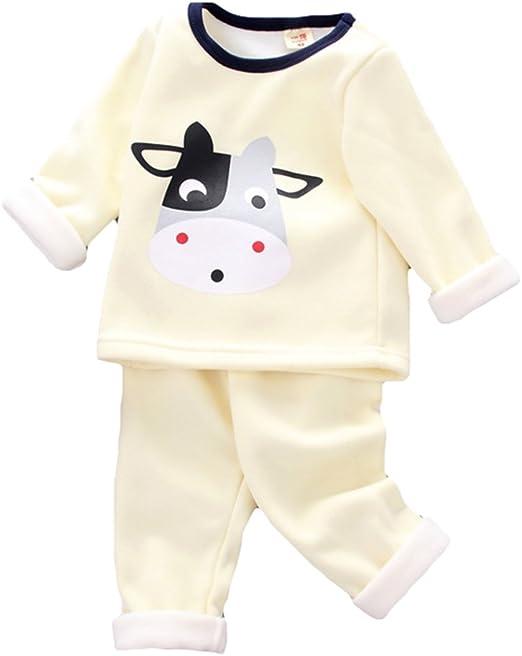 Recién Nacido Infantil Bebé Chico Niña Niñito Bebé Pijama Conjunto Baby Ropa Conjunto Dibujos Animados Impresión Algodón Casa Largo Manga Camiseta + Pantalones Para 0 - 4 Años Antiguo Kootk: Amazon.es: Bebé