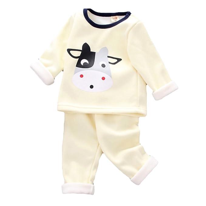 Meedot Conjunto de Pijamas de recién Nacidos, niñas, niños, 2 Piezas de algodón