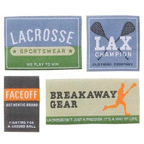 KAREN FOSTER Design Little Labels Scrapbooking Embellishments, Lacrosse