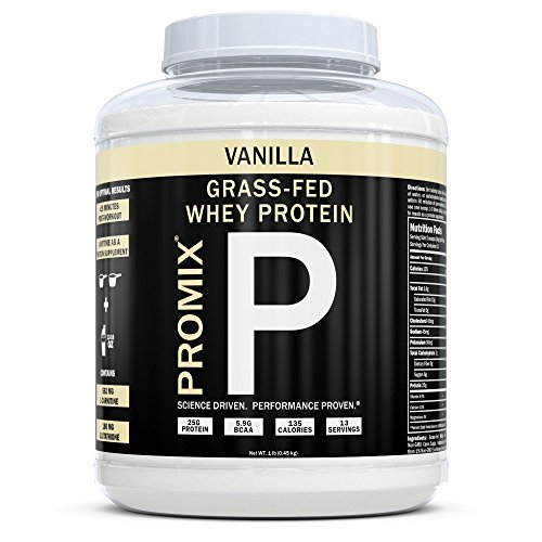 Performance Whey Protein Powder Concentrate - PROMIX Standard 100 Percent All Natural Grass Fed & Undenatured - Best for Optimum Fitness Nutrition Shakes & Energy Smoothie Bowls: Vanilla 1 lb Bulk (Natural Powder All Whey Protein)